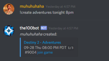 Gears of War 5 Discord Bot Create