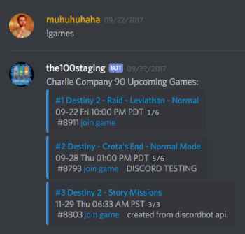 Gears of War 5 Discord Bot LFG