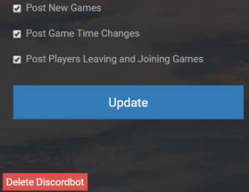 Discord bot settings